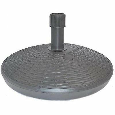 Base Ombrellone plastica Rattan  Antracite Lt.30 - IPAE-PROGARDEN