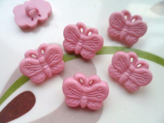 30pcs Novelty Theme Buttons Butterfly Dress Craft Cardmaking Pink 14**18mm