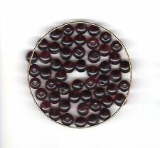 Vintage deep amethyst/grape round glass beads--7 mm.