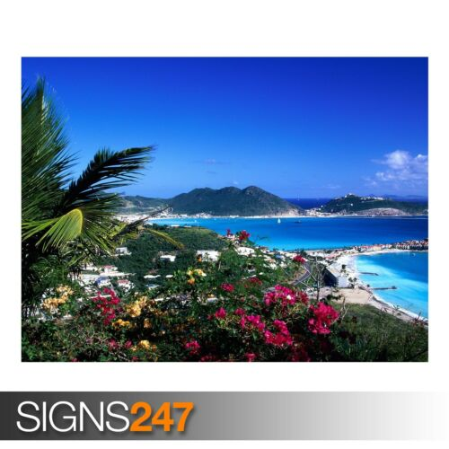 Beach Poster 3282 Photo Poster Print Art * All Sizes GREAT BAY PHILIPSBURG