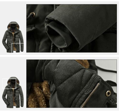 winter jacket men/'s solid color hooded military coat man plus velvet warm down p