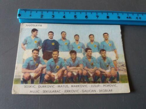 BRASILE ITALIA PELE/' RIVERA FIGURINA CARTONATA SAIM  WM MONDIALI 1962 ORIGINALE