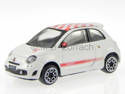 Fiat 500 Abarth 2008 weiß Dach Karo rot Modellauto 30199 Bburago 1:43