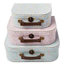 Vintage Suitcases Set of 3 Storage Boxes - Grace Floral