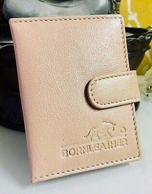 RFID Protected Slim Genuine Leather Credit Card Holder//Wallet RRP £15.00