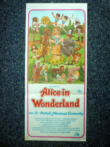 ALICE IN WONDERLAND RRated Original 1976 Australian Daybill Movie Poster