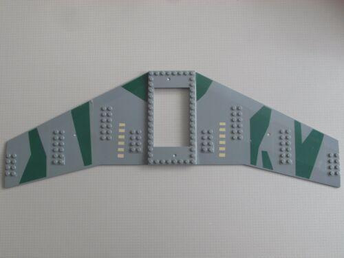 Aeroplane Dark Grey Army Wing Plate 20 x 56 with 6 x 10 Cutout 54093 Lego