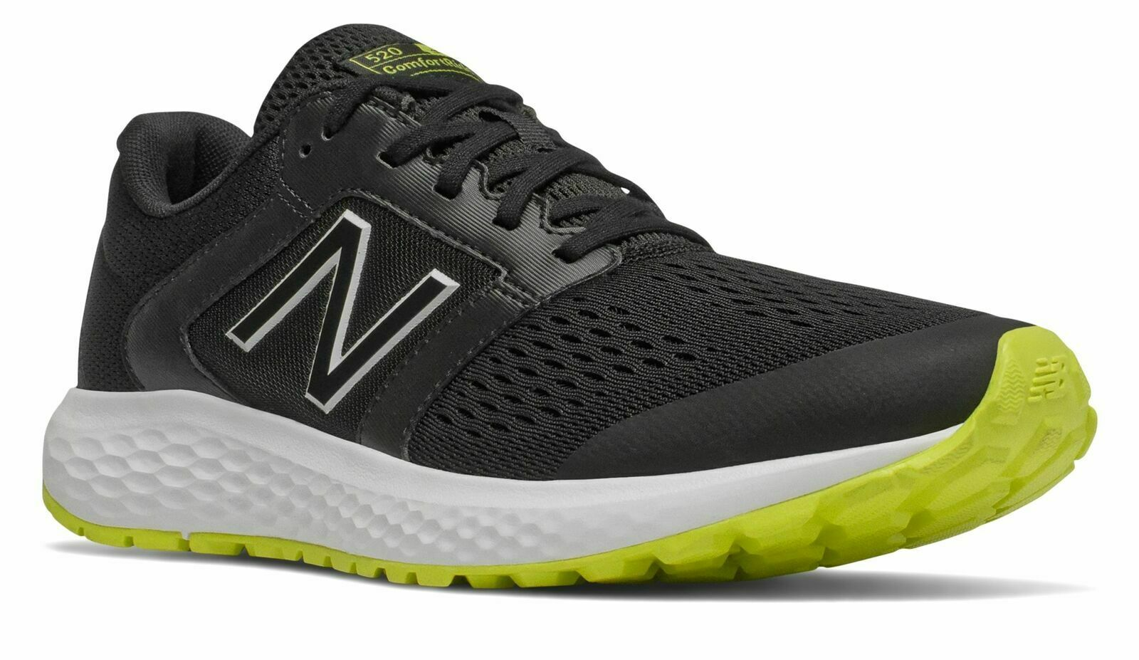 New Balance Men's 520V5 Shoes Black with Yellow Size 12