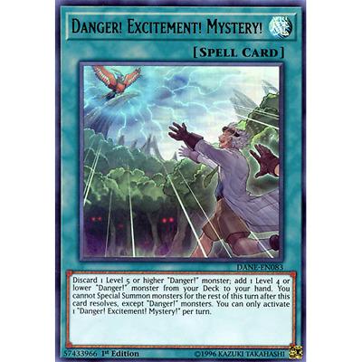Mystery! DANE-EN083 Ultra Rare 1st Edition Excitement x3 Danger