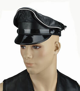 2c6c21b24f9 Image is loading Gay-Leather-Army-Cap-Leather-Muir-Cap-with-