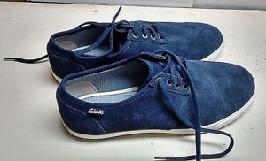 Casual M Fashion Leather Torbay Size Clarks Sneakers Dress Blue 42 9 7xEfPqwz