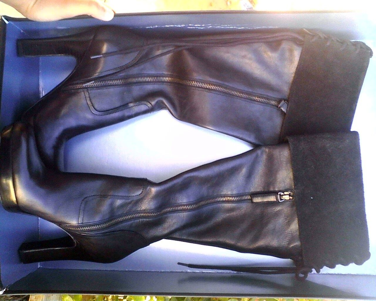 Gentleman/Lady STUDIO 9 BLACK LEATHER BOOTS selling price Excellent performance Sales online store