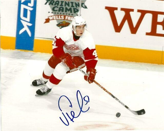 Detroit Red Wings Valterri Filppula Signed Autographed 8x10 COA