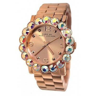 *NEW* MARC BY MARC JACOBS LADIES WATCH MBM3223 - AMY ROSE GOLD GLITZ HOLOGRAPHIC