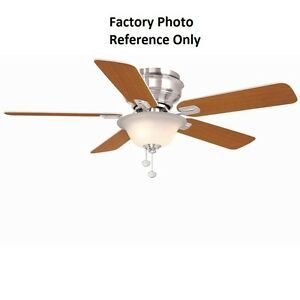 Hampton Bay Hawkins 44 in. Brushed Nickel Ceiling Fan Replacement Parts