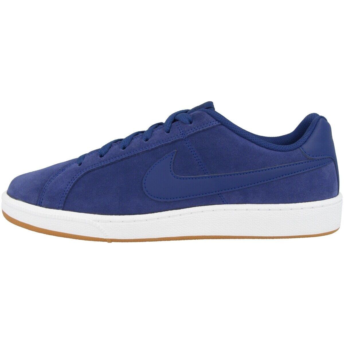 Nike Court Royale Suede chaussures Caleçon hommes Rétro Loisirs Turnchaussures bleu 819802-405