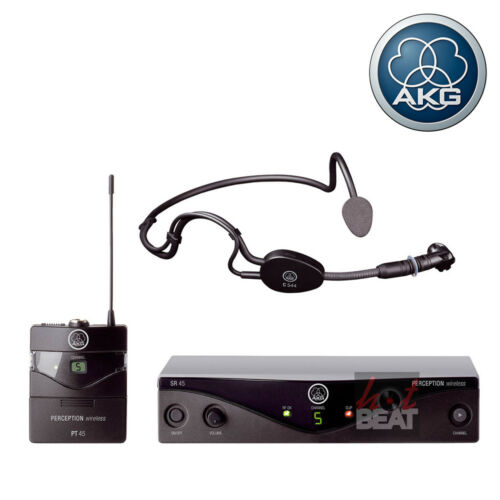 AKG WMS 45 Perception Wireless Hands-Free Mic Headset Sports Dance PA Microphone