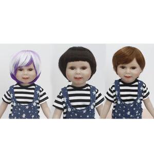 e5e98f3fcbb Poupée Perruques Cheveux Court Droit Accessoires Pour 18'' American ...