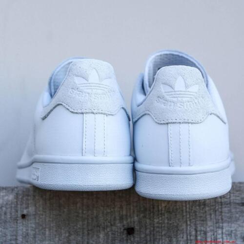 Smith in Adidas Originals White Scarpe Triple Stan scamosciata Sz tallone riflettente 9 pelle S80249 con Yt1qFwx