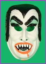* Childs Dracula Vampire Halloween Mask Costume Kids Horror Monster Vintage NEW