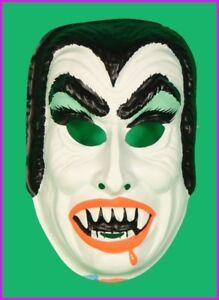 Childs-Dracula-Vampire-Halloween-Mask-Costume-Kids-Horror-Monster-Vintage-NEW