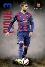 FC Barcelona GERARD PIQUE - BREAKOUT Spanish La Liga Soccer Action Poster