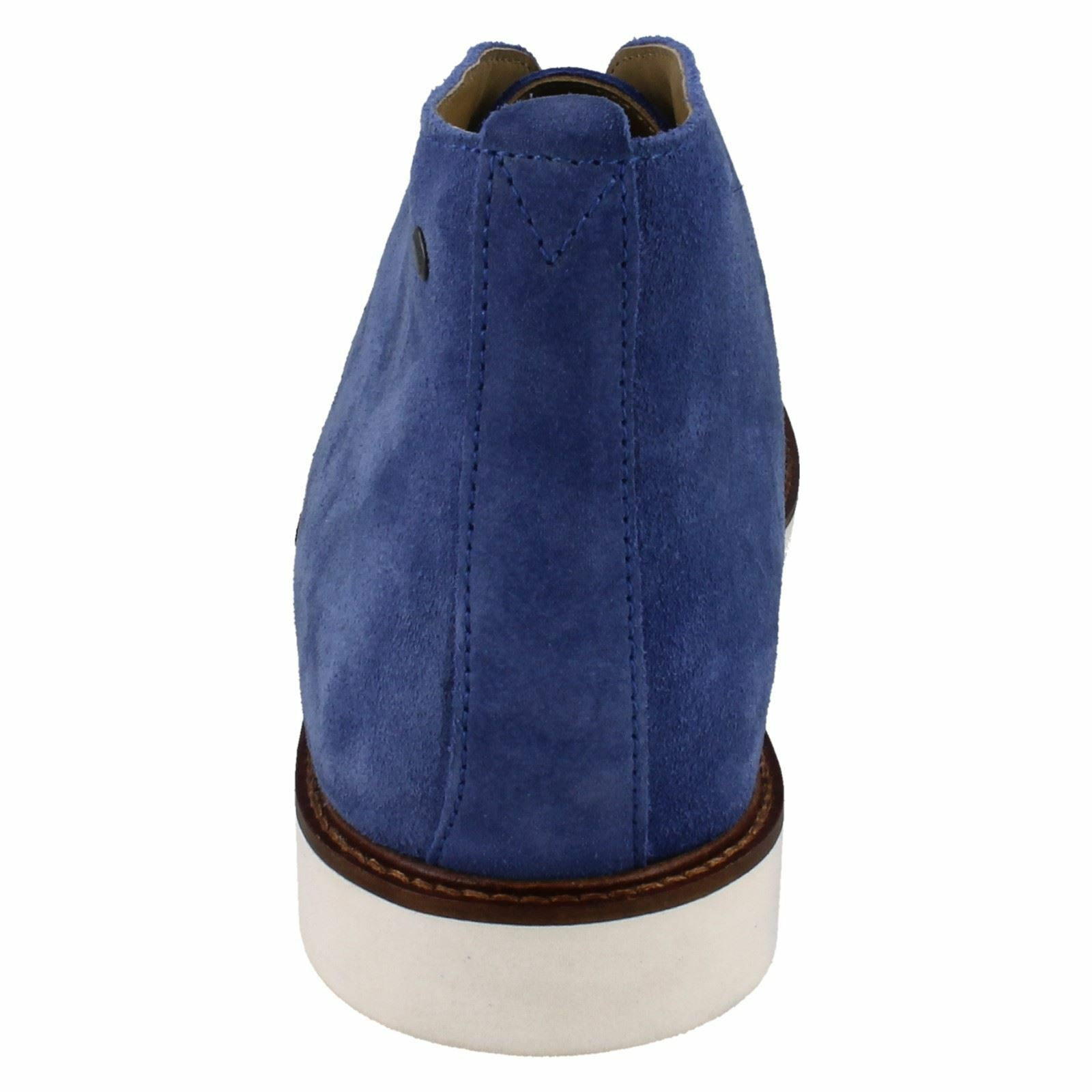 Base London 'Cobden' Smart Men's Blue Suede Chukka Boots