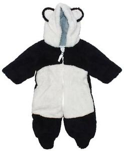 2c45585d32c5 Baby Snowsuit Panda Coat Snuggle Fleece Hooded Winter Pramsuit 0 to ...