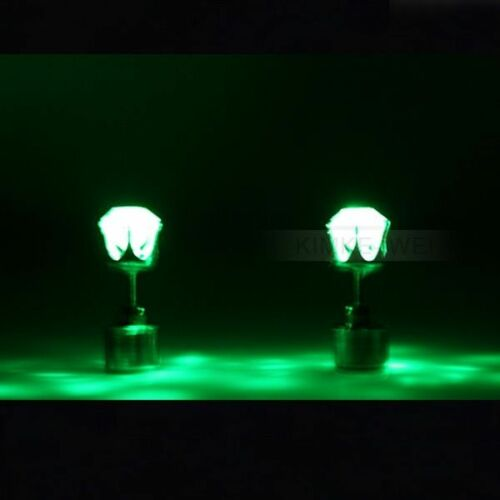1 Pair Green Color Light Up Led Earrings New