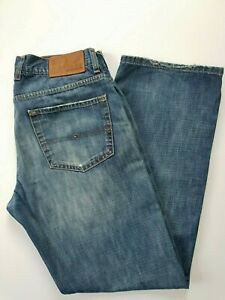 Used-Tommy-Hilfiger-034-Brooklyn-034-Men-039-s-zip-fly-Jeans-W-32-L-31-labelled-W34-L32