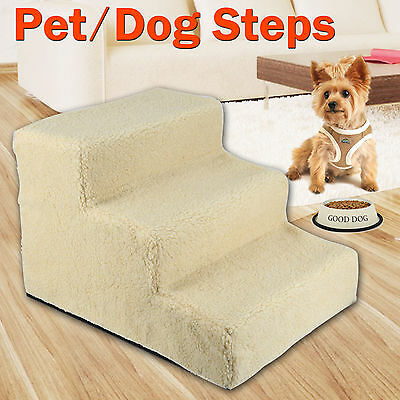 Pet Dog Steps Ladder Doggy Stairs Ramp Cat Washable Cover Portable Plush Mat