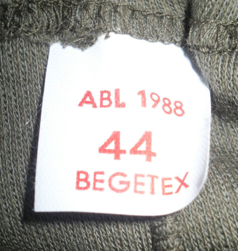 Genuine Belgian Begetex Army Cold Weather Underwear Long Johns NEW Thermals