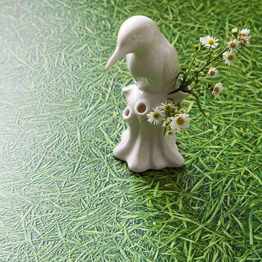 Vinyl PVC Bodenbelag Rasen Gras Wiese grün incl. Randleiste & Clips  /m²