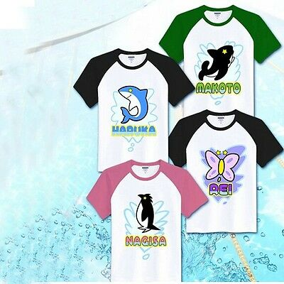 New Anime Free! Iwatobi Swim Club Cosplay Costume Unisex Cotton T-shirt Tee Top