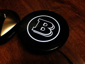 Logo-LED-Brabus-for-front-grill-Smart-ForTwo-453-amp-ForFour-black-amp-silver-Great