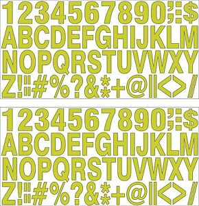 2-SETS-OF-SELFADHESIVE-GOLD-VINYL-LETTERS-amp-NUMBERS-HIGH-1-034-INDOOR-OUTDOOR-USE