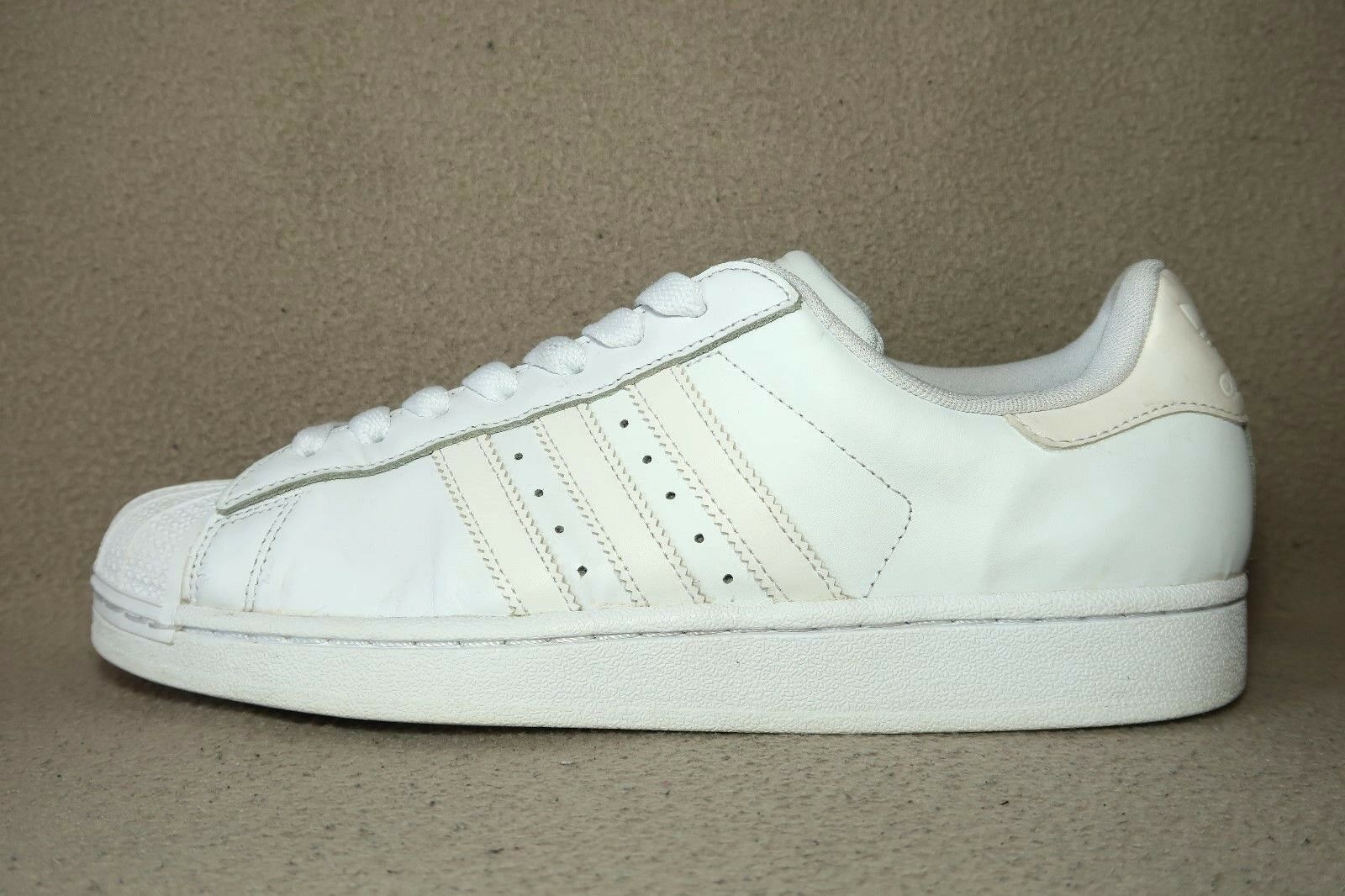 ADIDAS SUPERSTAR 80S Men's All White Leather Trainers UK Size 9  EU 43