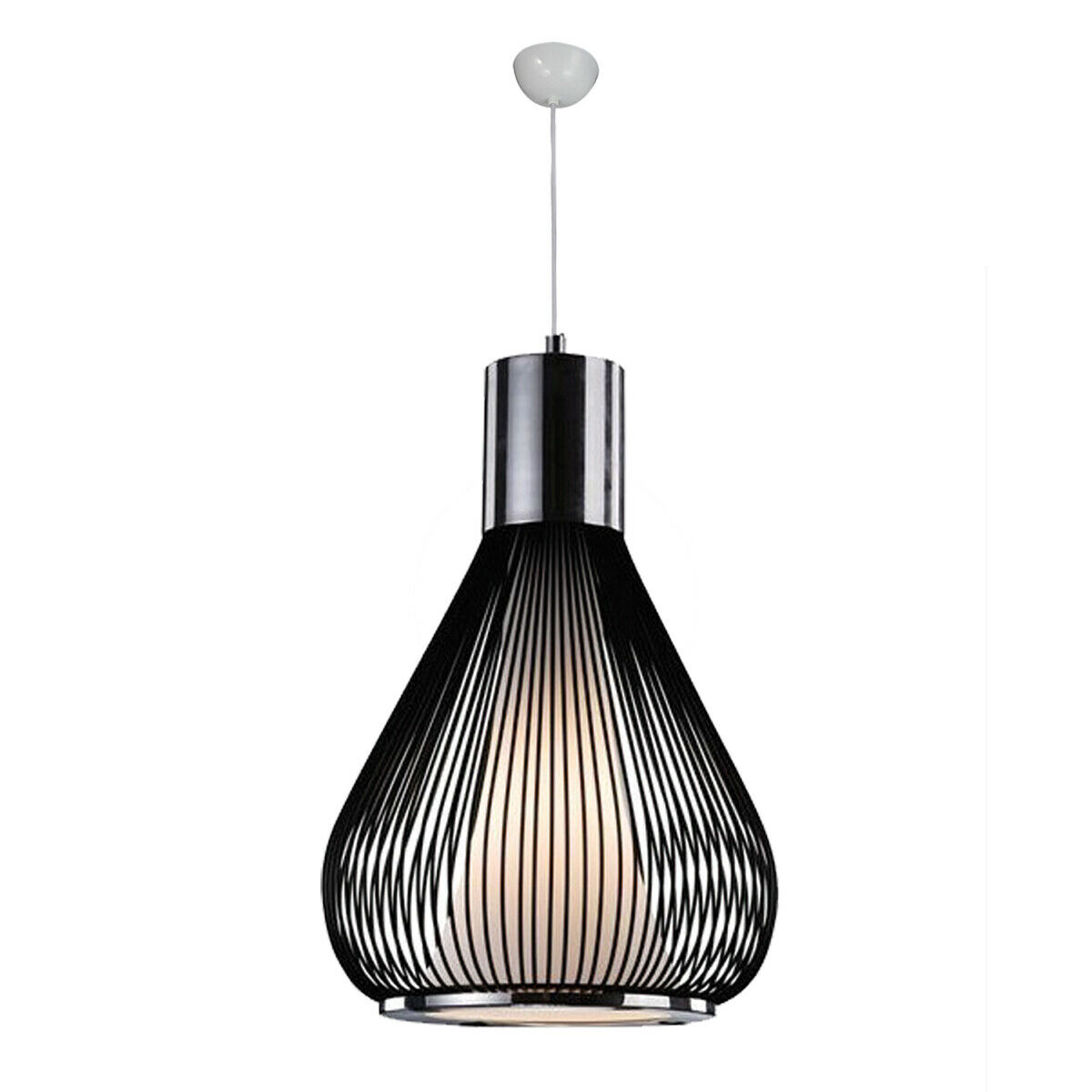 Lampadario a soffitto in metallo  Grill  Silber e schwarz 30 cm