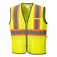 Safety Vest With Pockets Mesh Class 2 Hi Vis Reflective Tape