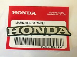Honda Mark 70mm Silver Black Sticker Decal Logo Badge 100 Genuine Uk Stock Ebay