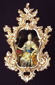 Catherine the Great portrait in Baroque/Rococo frame. Wall decor ...