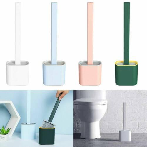 NEW Silicone Toilet Brush with Toilet Brush Holder Creative Cleaning Brush Set