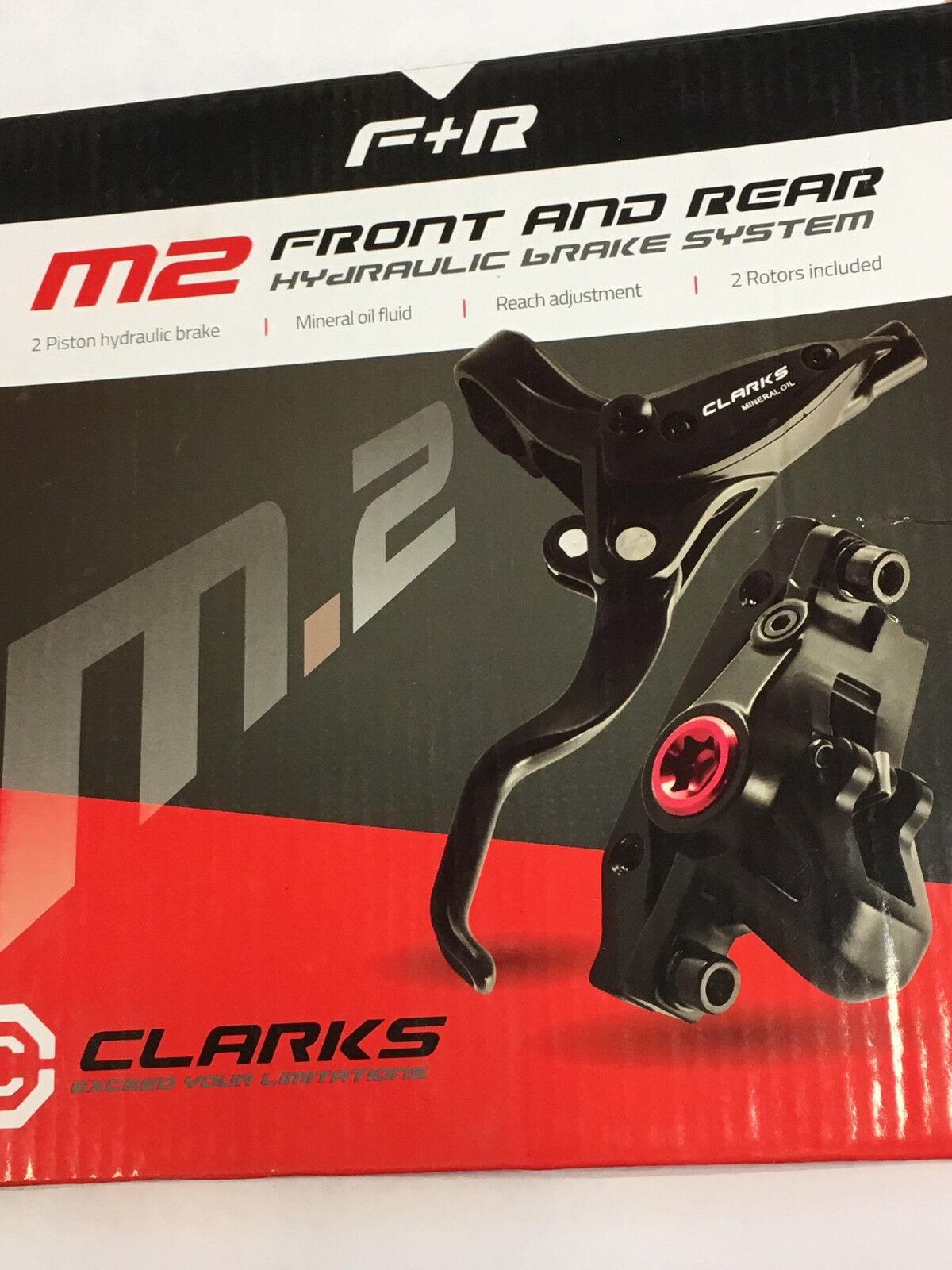 Clarks M2 Front & Rear Hydraulic Disc Brake Set (Rotor Größe Option)