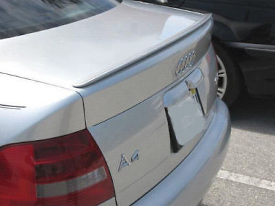 USA Painted Trunk Lip Spoiler 02-05 Audi A4 S4 B6 4D Light Silver LY7W 5B