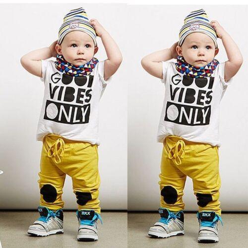 USA STORAGE Newborn Toddler Kids Boy T-shirt Tops Long Pant Outfits Set Clothes