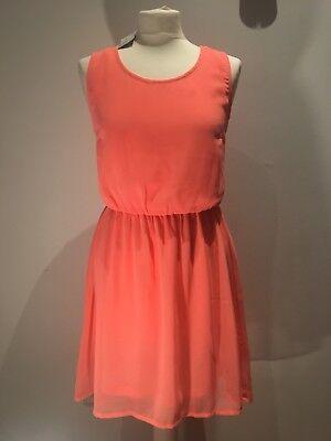 Damen Kleid koralle neon orange Gr 36 NEU mit Schild von H ...