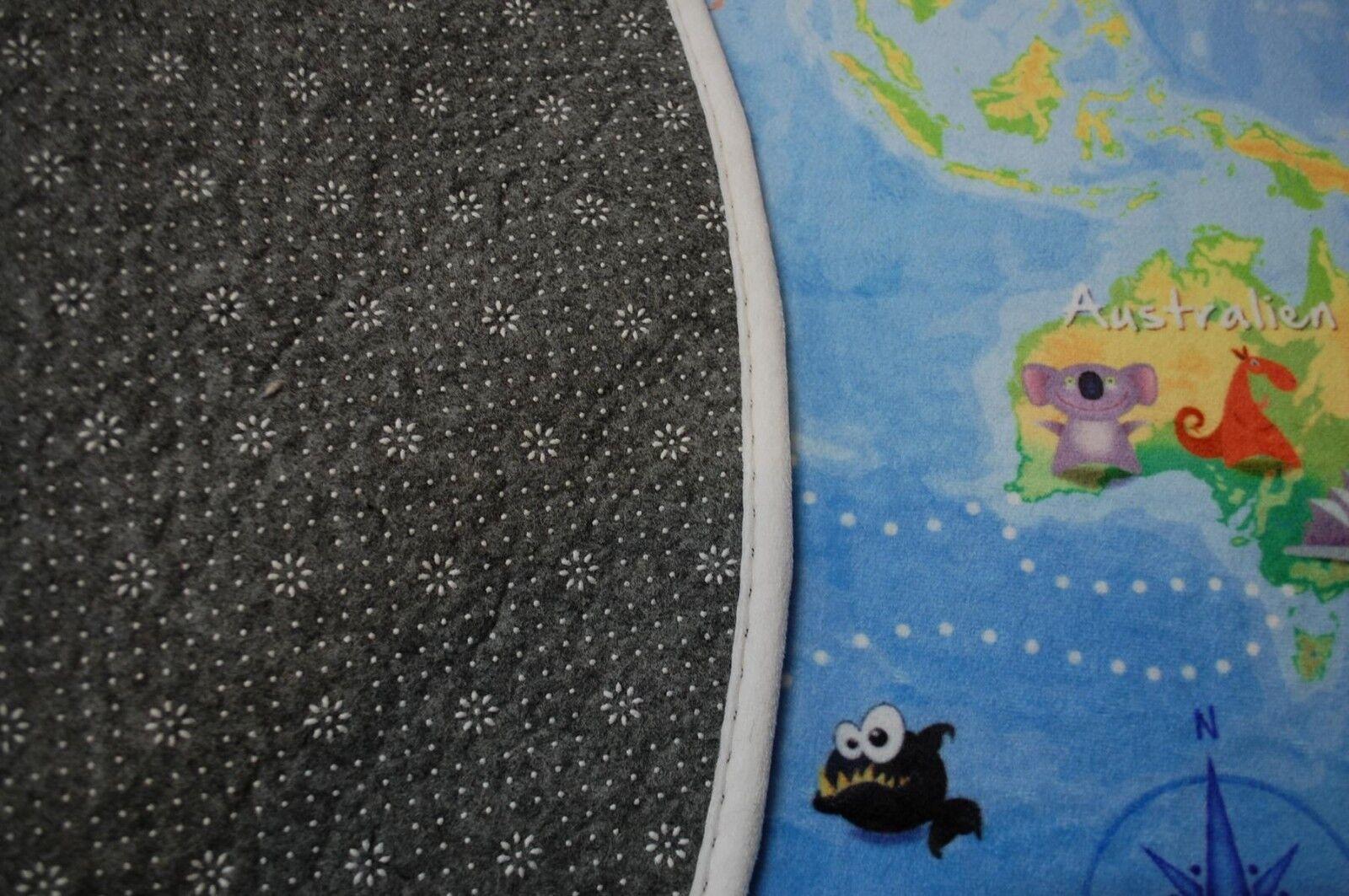 Gioco per per per bambini tappeto Mappa del mondo 100 cm Tondo lk-413 mondo la nostra terra NUOVO f61dfa