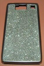Silver Sparkle Hard Plastic thin profile Case for Motorola DROID RAZR HD XT926W