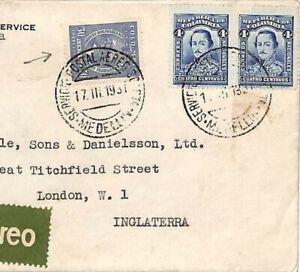 Hh65 Colombie Aviation * Scadta * Housse 1937 Usa Consulat Medellin Airmail London-afficher Le Titre D'origine Adopter Une Technologie De Pointe