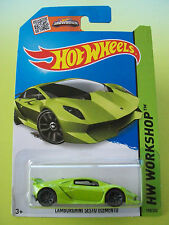 Hot Wheels 2015 HW Workshop - LAMBORGHINI SESTO ELEMENTO (Green) #198/250 - NIP